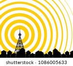 tower transmitter icon   Shutterstock .eps vector #1086005633