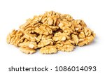 walnuts kernel isolated on...   Shutterstock . vector #1086014093