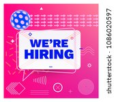 we are hiring template  banner... | Shutterstock .eps vector #1086020597