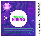 we are hiring template  banner... | Shutterstock .eps vector #1086020603