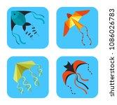 flying kite snake serpent...   Shutterstock .eps vector #1086026783