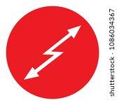 sign attention hazard red round ... | Shutterstock .eps vector #1086034367