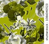 art vintage blurred monochrome...   Shutterstock . vector #1086040523