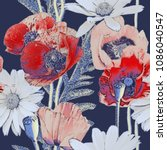 art vintage blurred colorful ...   Shutterstock . vector #1086040547