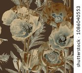 art vintage blurred monochrome...   Shutterstock . vector #1086040553