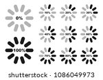 percentage diagrams set ... | Shutterstock .eps vector #1086049973