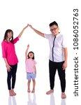 asian family making heart shape ... | Shutterstock . vector #1086052763