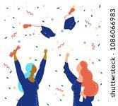 vector illustration graduation... | Shutterstock .eps vector #1086066983