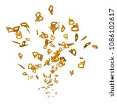 flow from rubles. 3d. confetti... | Shutterstock .eps vector #1086102617