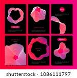 abstract vector backgrounds set ... | Shutterstock .eps vector #1086111797