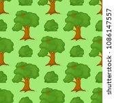 green trees seamless pattern... | Shutterstock .eps vector #1086147557