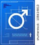 Male Symbol Like Blueprint...