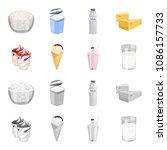 milk  calcium  product  food ... | Shutterstock .eps vector #1086157733