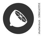 citrus fresh lemon vector icon  ... | Shutterstock .eps vector #1086163553