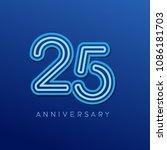 25th anniversary celebration... | Shutterstock .eps vector #1086181703