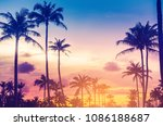 copy space of silhouette... | Shutterstock . vector #1086188687