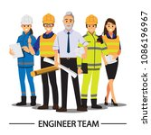 technician and builders and... | Shutterstock .eps vector #1086196967