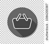 shopping basket icon. simple...   Shutterstock .eps vector #1086200387