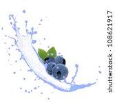 blueberries with splash... | Shutterstock . vector #108621917