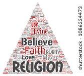 vector conceptual religion  god ...   Shutterstock .eps vector #1086234473