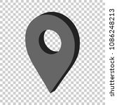 3d map pointer in flat style.... | Shutterstock .eps vector #1086248213