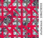 vector seamless bold plaid... | Shutterstock .eps vector #1086258533