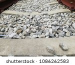 railroad tracks closed up on... | Shutterstock . vector #1086262583