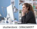 young smiling beautiful woman...   Shutterstock . vector #1086268097