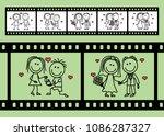 a pair of lovers and their...   Shutterstock .eps vector #1086287327