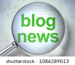 news concept  magnifying... | Shutterstock . vector #1086289013