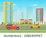 new apartment building in the... | Shutterstock .eps vector #1086304967