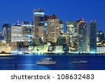 Stock photo downtown boston skyline 108632483