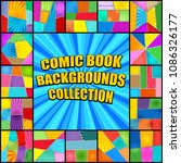 bright comic book backgrounds...   Shutterstock .eps vector #1086326177