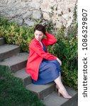 sexy beauty girl   dressed in...   Shutterstock . vector #1086329807