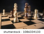 chess on chessboard close up | Shutterstock . vector #1086334133