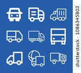 lorry related set of 9 icons...   Shutterstock .eps vector #1086345803