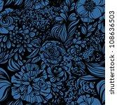 abstract geometric zentangle... | Shutterstock .eps vector #108636503