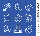baby related set of 9 icons... | Shutterstock .eps vector #1086368147