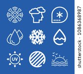 weather related set of 9 icons... | Shutterstock .eps vector #1086368987