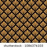 vector classic floral art... | Shutterstock .eps vector #1086376103