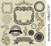 collection of vintage design... | Shutterstock .eps vector #108637757