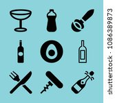 filled food icon set such as... | Shutterstock .eps vector #1086389873