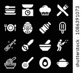 filled food icon set such as... | Shutterstock .eps vector #1086391073