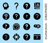 filled help icon set such as... | Shutterstock .eps vector #1086396083