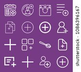 outline add icon set such as...   Shutterstock .eps vector #1086396167