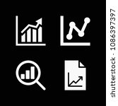filled chart icon set such as...   Shutterstock .eps vector #1086397397
