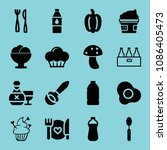 filled food icon set such as... | Shutterstock .eps vector #1086405473