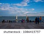 lisbon portugal. 06 may 2018.... | Shutterstock . vector #1086415757