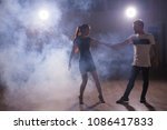 young couple dancing latin... | Shutterstock . vector #1086417833
