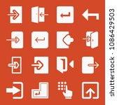 filled set of 16 enter icons... | Shutterstock .eps vector #1086429503